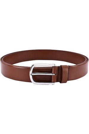BuckleUp Men Tan Brown Solid Leather Belt
