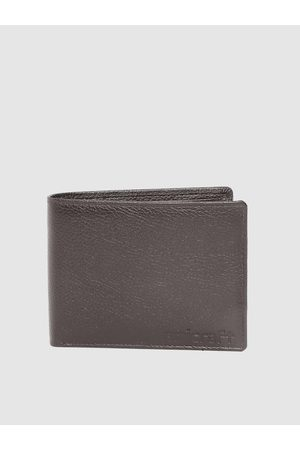 amicraft Men Coffee Brown Leather Solid Two Fold Wallet with Detachable Flap