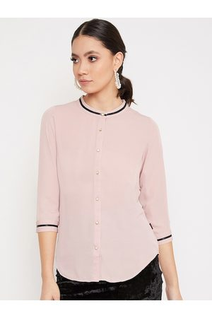 Crimsoune Club Women Pink Solid Shirt Style Top
