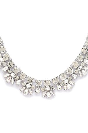 Globus Women Silver-Plated Stone-Studded Necklace