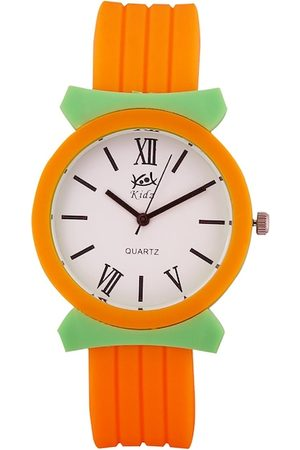 Kool Kidz Unisex Kids White & Orange Analogue Watch KK 9002 OR