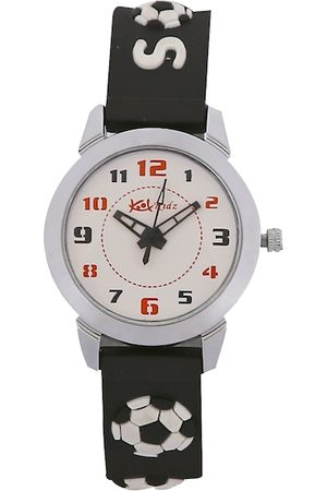 Kool Kidz Unisex Kids Off-White & Black Analogue Watch ANALOGUE KK 304 BK