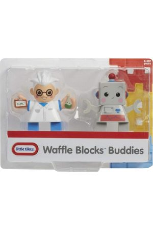 Little Tikes Kids Sets - Kids Set of 2 White & Grey Scientist & Robot Waffle Blocks Toy Figures