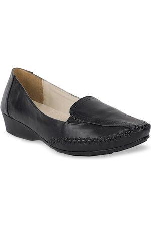 Bata Women Black Loafers