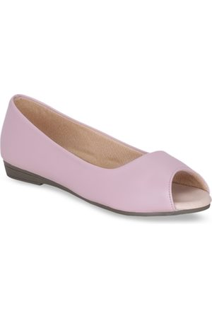 Get Glamr Women Pink Solid Open Toe Flats