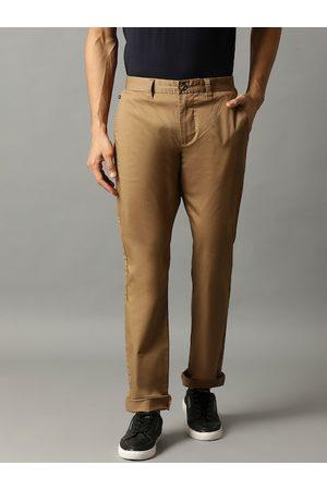 Matinique Men Chinos - Men Khaki Slim Fit Solid Chinos