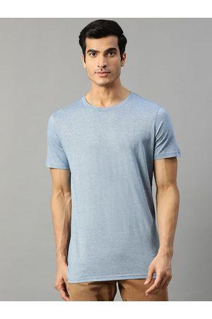 Matinique Men Blue Printed Round Neck T-shirt
