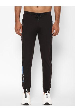 SAPPER Men Black Solid Slim-Fit Joggers