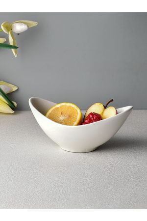 Ariane Set Of 2 White Solid Fine Porcelain Wing Bowls