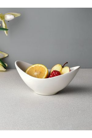 Ariane White Solid Fine Porcelain Wing Bowl