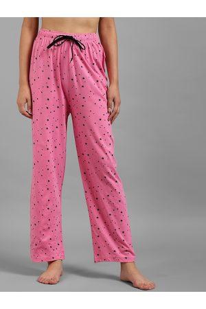KOTTY Women Pink Printed Lounge Pants