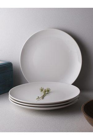 Ariane Urmi Set of 4 White Fine Porcelain Glossy Urmi Plates