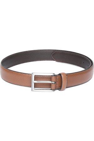 Marks & Spencer Men Brown Leather Textured Belt