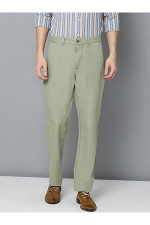 GANT Men Olive Green Regular Fit Solid Chinos