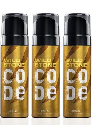 Wild stone Men Set of 3 Code Gold Perfume Body Spray