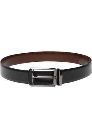 Louis Philippe Men Black & Brown Reversible Solid Belt