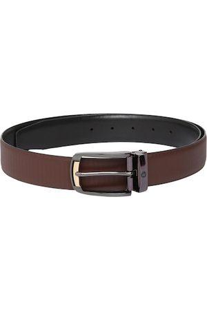 Louis Philippe Men Tan & Black Solid Reversible Leather Belt