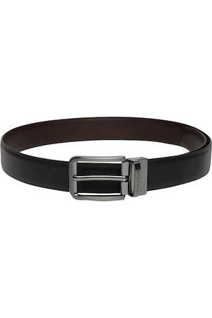 Louis Philippe Men Brown Textured Leather Reversible Belt
