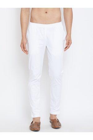 See Designs Men White Solid Pyjamas