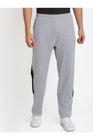 Crocodile Men Grey Melange Solid Slim-Fit Track Pants