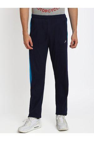 Crocodile Men Navy Blue Solid Slim-Fit Track Pants