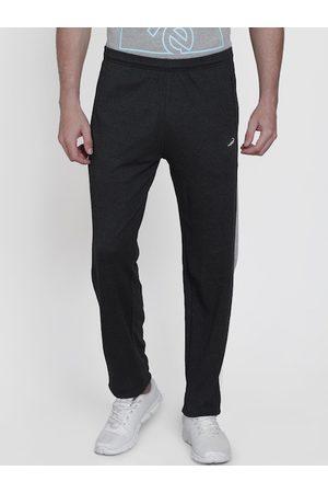 Crocodile Men Charcoal Grey Solid Slim-Fit Track Pants