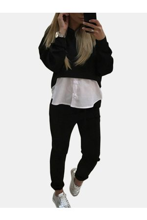 YOINS Active Crop Top & Middle Waisted Leggings in