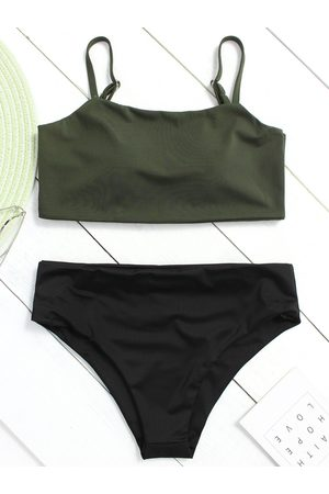 YOINS Basic Square Neck High-waist Bikini Set