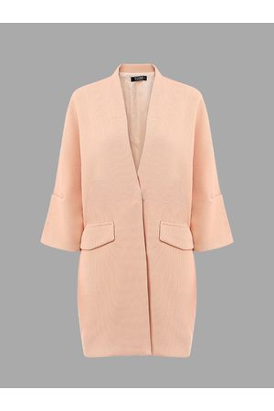 YOINS Two Large Pockets 3/4 Length Sleeves Trench Coat