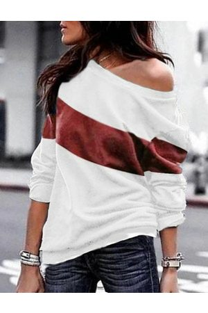 YOINS Color Block Round Neck Long Sleeves Tee
