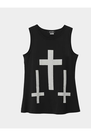 YOINS Tank Top with Cross Print
