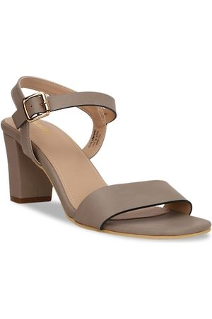 Bata Women Grey Solid Sandals