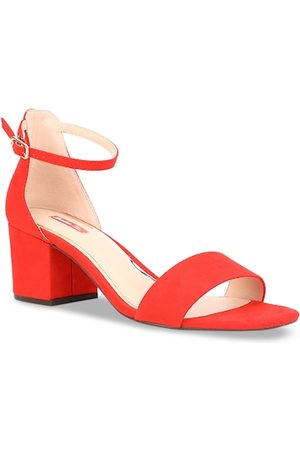 Bata Women Red Solid Block Heels