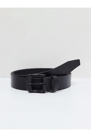 Max Collection Men Black Solid Leather Belt
