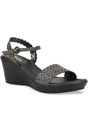 Bata Women Black Solid Wedges