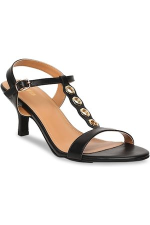 Bata Women Black Solid Sandals