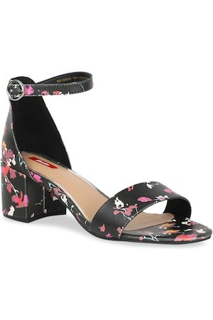 Bata Women Black & Pink Printed Block Heels