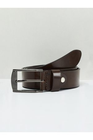 Max Collection Men Brown Solid Leather Belt
