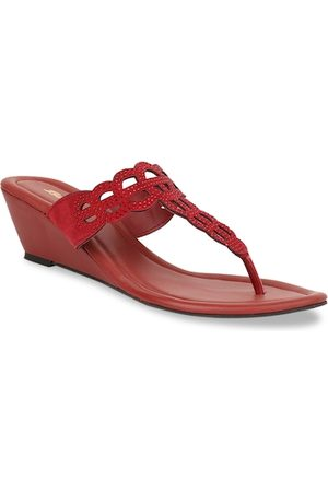 Bata Women Red Solid Wedges