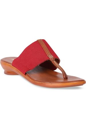 Bata Women Red Solid Sandals