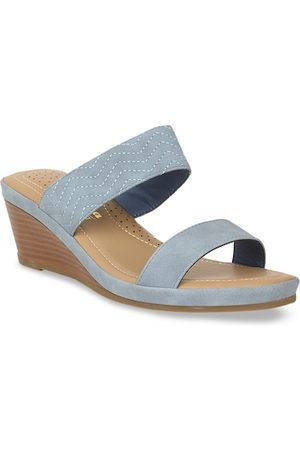 Bata Women Blue Solid Heels