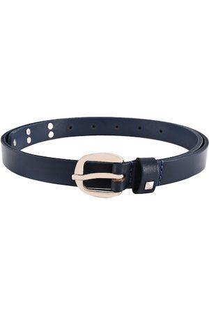BuckleUp Women Blue Solid Leather Belt