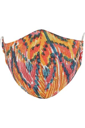 Swiss Design Women MultiColoured 2-Ply Mask with 1 Hair Scarf