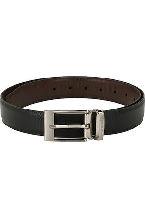 Pacific Men Black & Brown Solid Reversible Belt