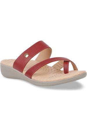 Scholl Women Red Solid Heels