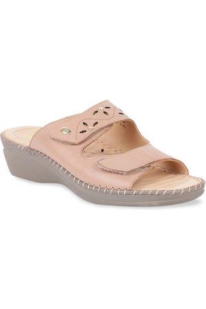 Scholl Women High Heels - Women Pink Solid Heels