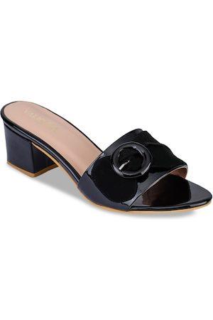 VALIOSAA Women Black Solid Block Heels