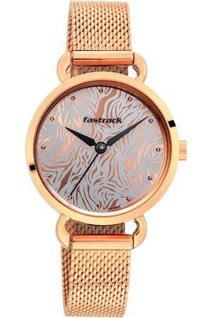 Fastrack Women Rose Gold Analogue Watch 6221WM01
