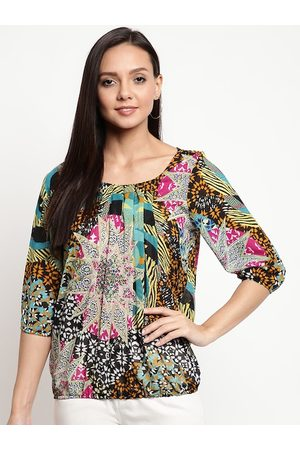 Mayra Women Multicoloured Printed Blouson Top