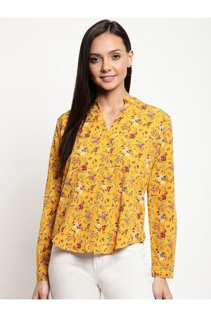 Mayra Women Yellow Printed Top